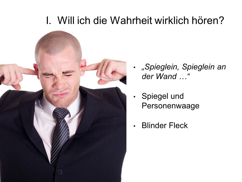 """""""Spieglein, Spieglein an der Wand … Spiegel und Personenwaage Blinder Fleck I."""