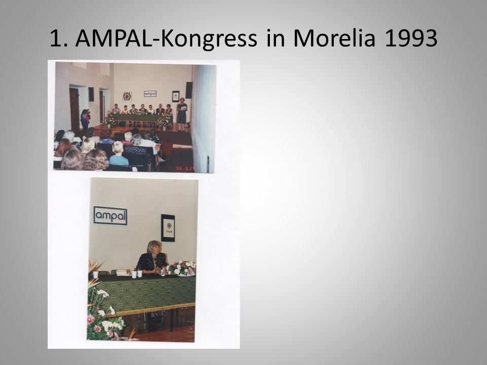1. AMPAL-Kongress in Morelia 1993