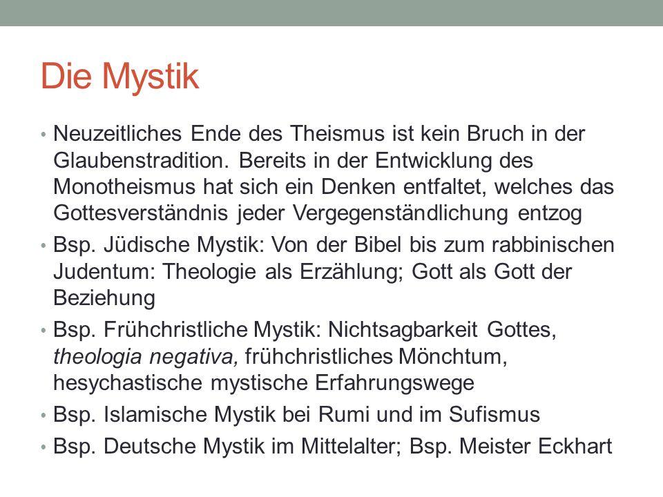 Mystik: personal oder transpersonal.