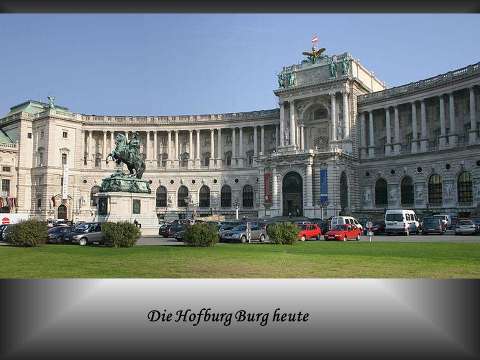 Die Hofburg war von 13. Jh. bis 1918 (mit Unterbrechungen) die Residenz der Habsburger in Wien.