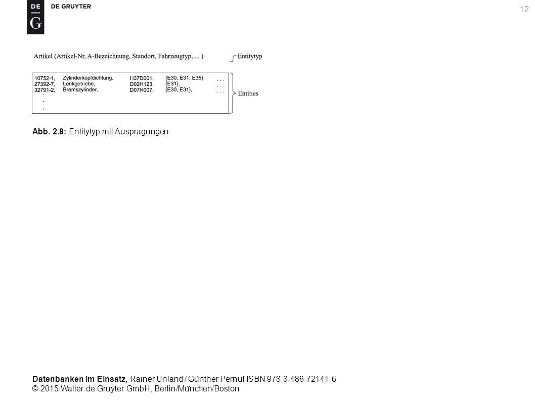 Datenbanken im Einsatz, Rainer Unland / Gu ̈ nther Pernul ISBN 978-3-486-72141-6 © 2015 Walter de Gruyter GmbH, Berlin/Mu ̈ nchen/Boston 12 Abb. 2.8: