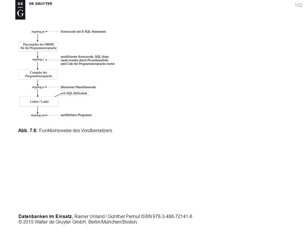 Datenbanken im Einsatz, Rainer Unland / Gu ̈ nther Pernul ISBN 978-3-486-72141-6 © 2015 Walter de Gruyter GmbH, Berlin/Mu ̈ nchen/Boston 152 Abb. 7.8: