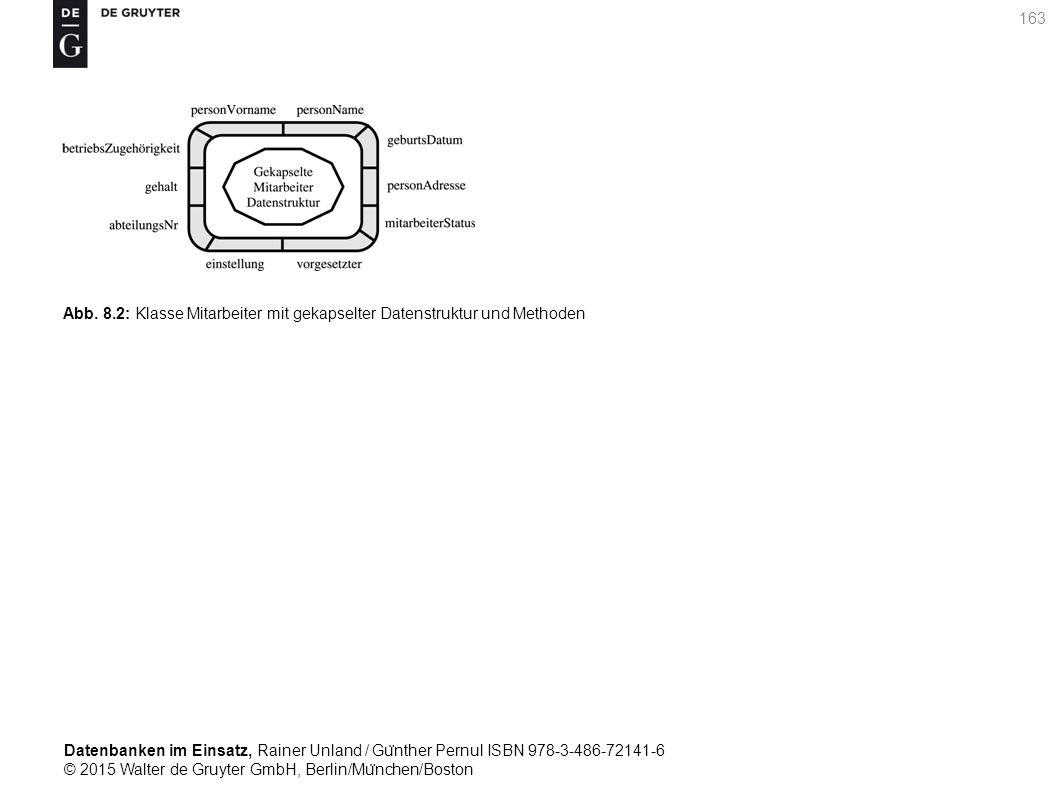 Datenbanken im Einsatz, Rainer Unland / Gu ̈ nther Pernul ISBN 978-3-486-72141-6 © 2015 Walter de Gruyter GmbH, Berlin/Mu ̈ nchen/Boston 163 Abb. 8.2: