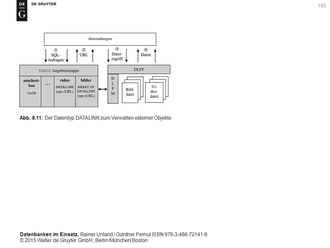 Datenbanken im Einsatz, Rainer Unland / Gu ̈ nther Pernul ISBN 978-3-486-72141-6 © 2015 Walter de Gruyter GmbH, Berlin/Mu ̈ nchen/Boston 180 Abb. 8.11