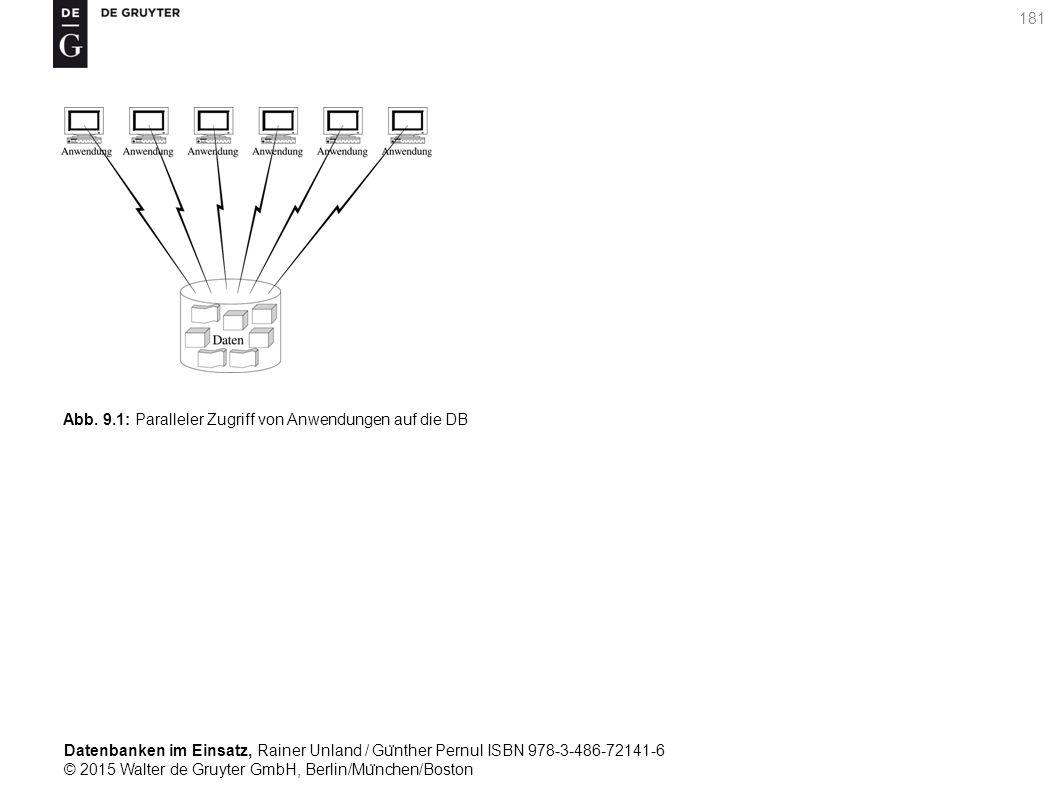 Datenbanken im Einsatz, Rainer Unland / Gu ̈ nther Pernul ISBN 978-3-486-72141-6 © 2015 Walter de Gruyter GmbH, Berlin/Mu ̈ nchen/Boston 181 Abb. 9.1: