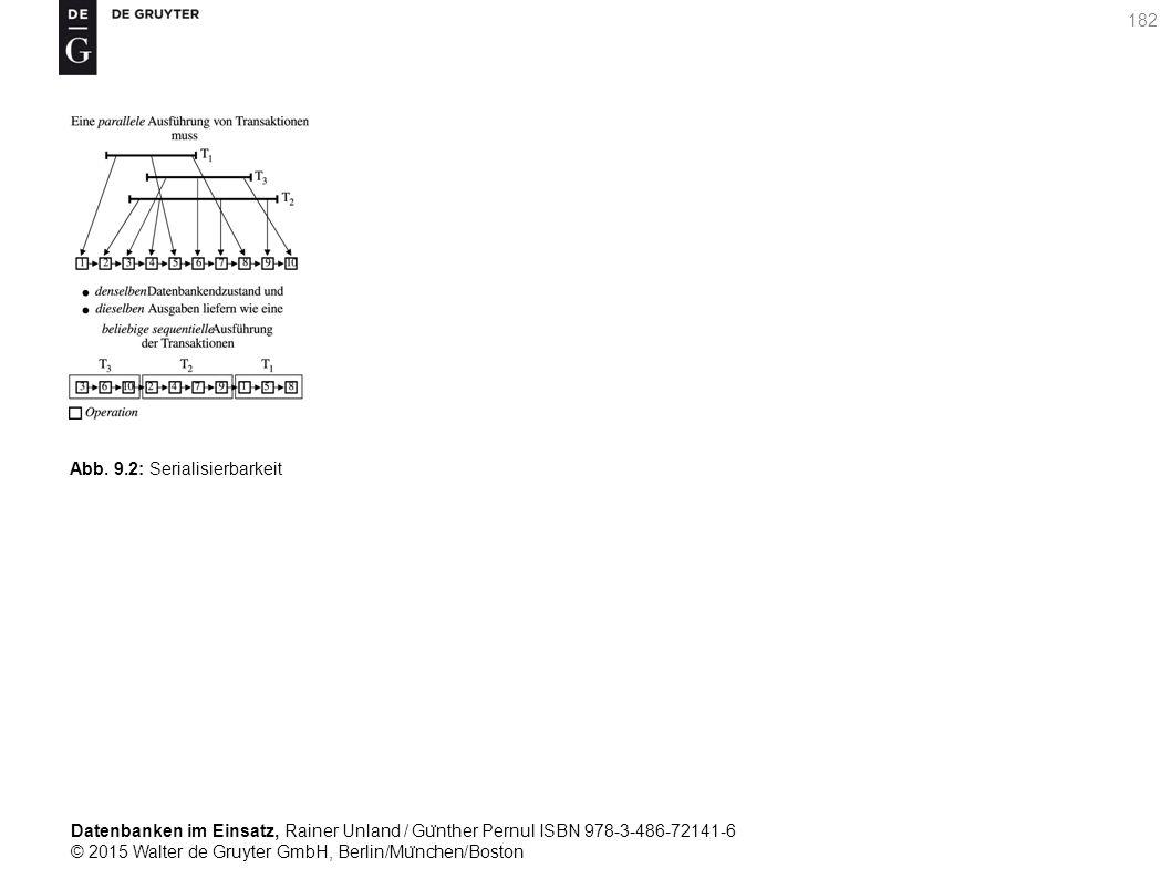 Datenbanken im Einsatz, Rainer Unland / Gu ̈ nther Pernul ISBN 978-3-486-72141-6 © 2015 Walter de Gruyter GmbH, Berlin/Mu ̈ nchen/Boston 182 Abb. 9.2: