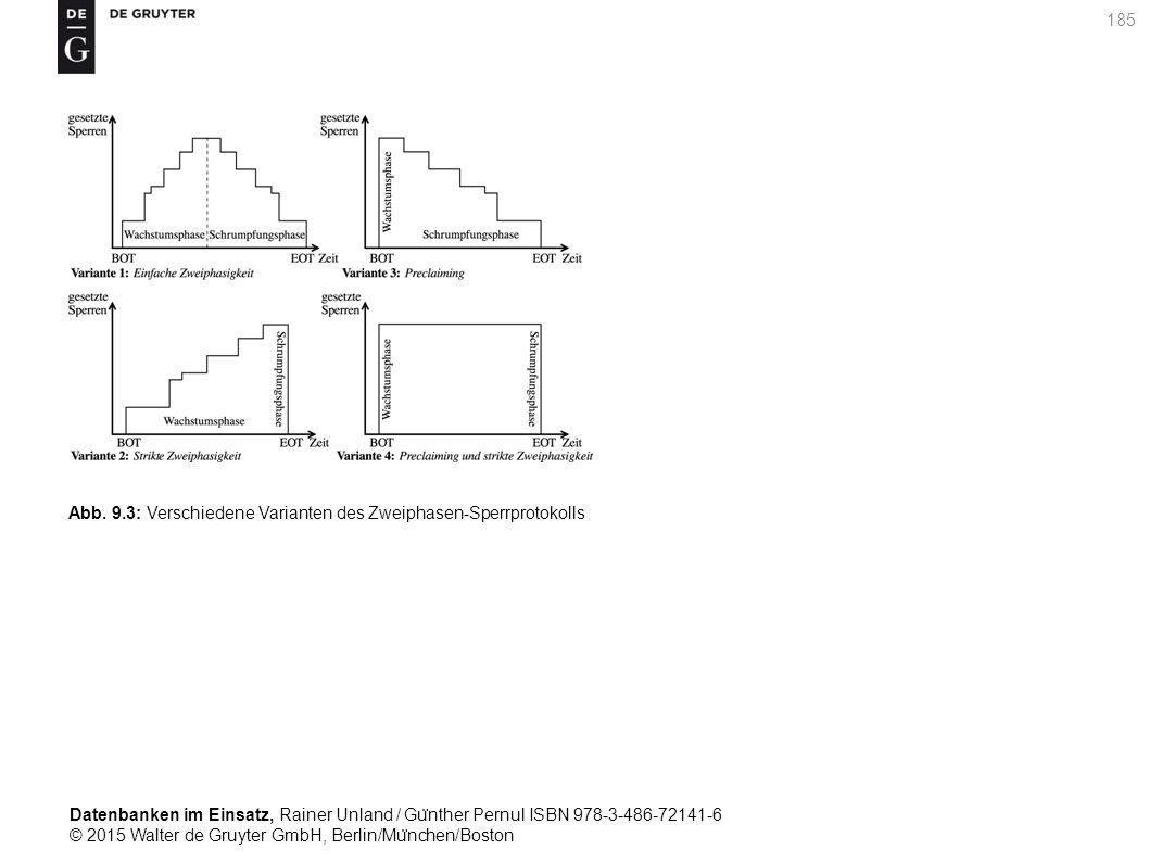 Datenbanken im Einsatz, Rainer Unland / Gu ̈ nther Pernul ISBN 978-3-486-72141-6 © 2015 Walter de Gruyter GmbH, Berlin/Mu ̈ nchen/Boston 185 Abb. 9.3: