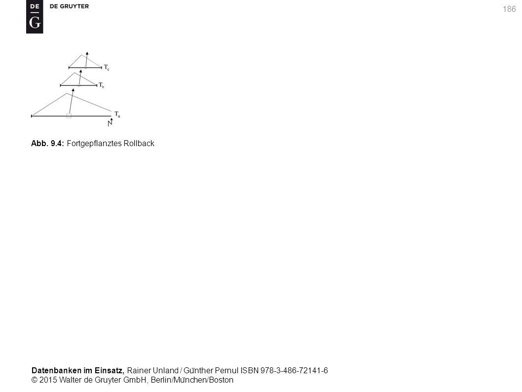 Datenbanken im Einsatz, Rainer Unland / Gu ̈ nther Pernul ISBN 978-3-486-72141-6 © 2015 Walter de Gruyter GmbH, Berlin/Mu ̈ nchen/Boston 186 Abb. 9.4: