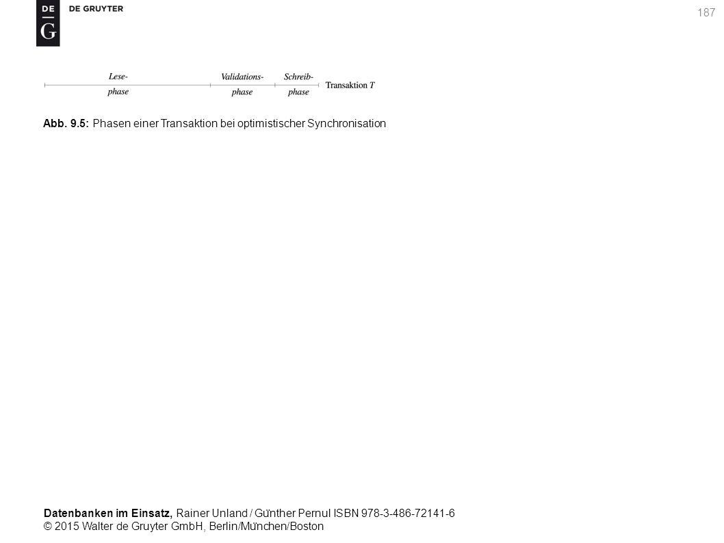 Datenbanken im Einsatz, Rainer Unland / Gu ̈ nther Pernul ISBN 978-3-486-72141-6 © 2015 Walter de Gruyter GmbH, Berlin/Mu ̈ nchen/Boston 187 Abb. 9.5: