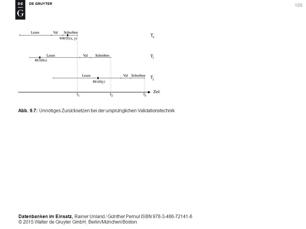 Datenbanken im Einsatz, Rainer Unland / Gu ̈ nther Pernul ISBN 978-3-486-72141-6 © 2015 Walter de Gruyter GmbH, Berlin/Mu ̈ nchen/Boston 189 Abb. 9.7: