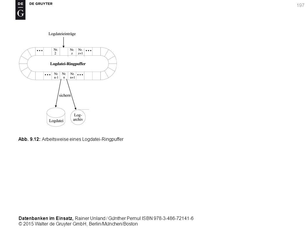 Datenbanken im Einsatz, Rainer Unland / Gu ̈ nther Pernul ISBN 978-3-486-72141-6 © 2015 Walter de Gruyter GmbH, Berlin/Mu ̈ nchen/Boston 197 Abb. 9.12