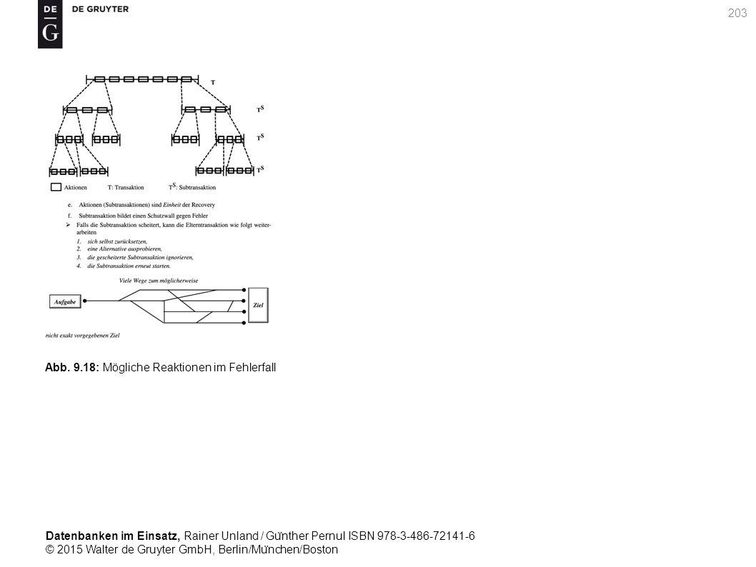 Datenbanken im Einsatz, Rainer Unland / Gu ̈ nther Pernul ISBN 978-3-486-72141-6 © 2015 Walter de Gruyter GmbH, Berlin/Mu ̈ nchen/Boston 203 Abb. 9.18