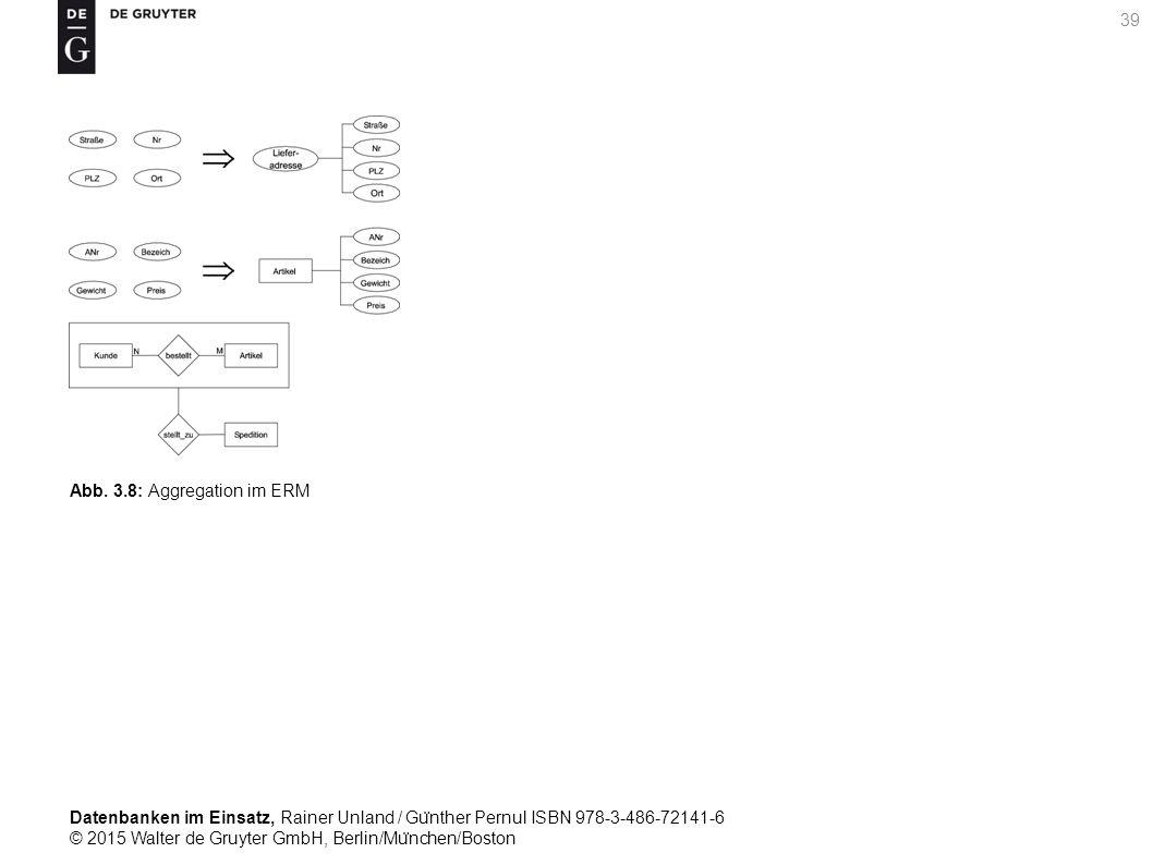 Datenbanken im Einsatz, Rainer Unland / Gu ̈ nther Pernul ISBN 978-3-486-72141-6 © 2015 Walter de Gruyter GmbH, Berlin/Mu ̈ nchen/Boston 39 Abb. 3.8: