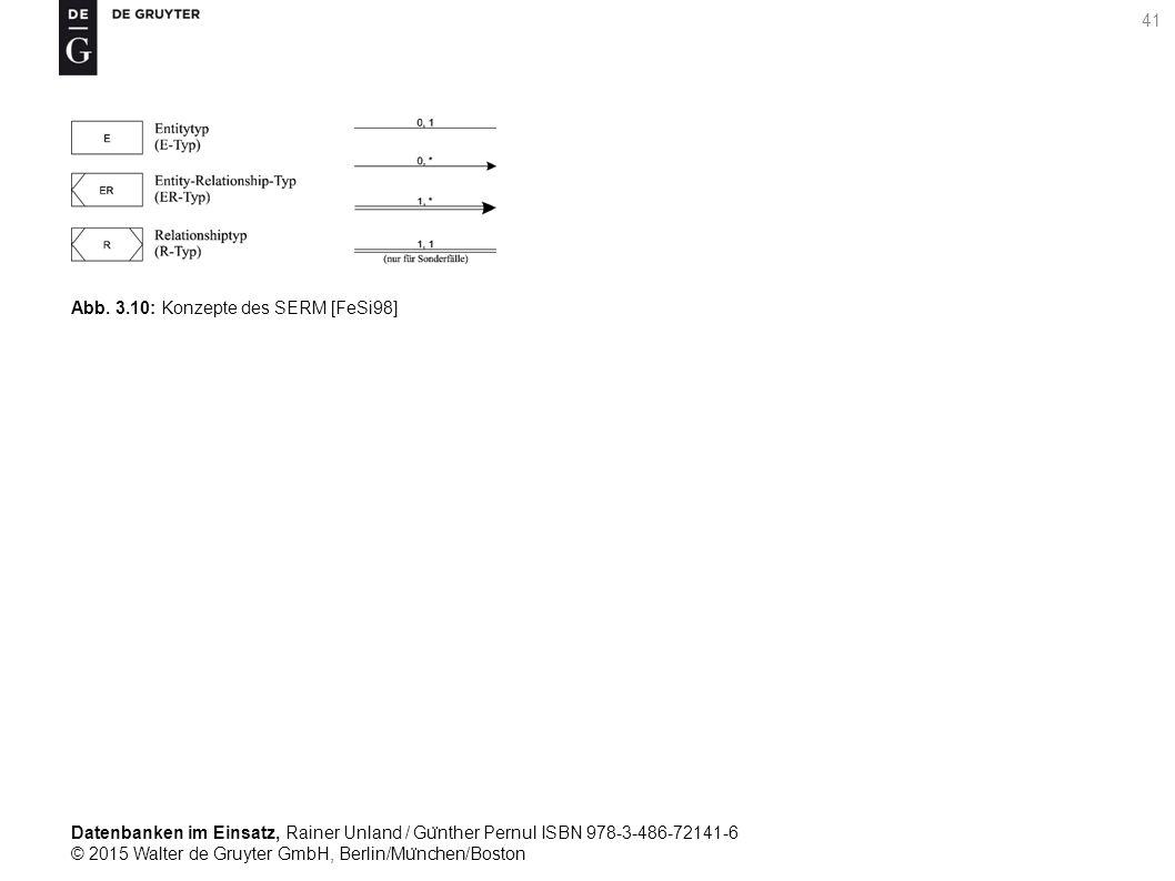 Datenbanken im Einsatz, Rainer Unland / Gu ̈ nther Pernul ISBN 978-3-486-72141-6 © 2015 Walter de Gruyter GmbH, Berlin/Mu ̈ nchen/Boston 41 Abb. 3.10: