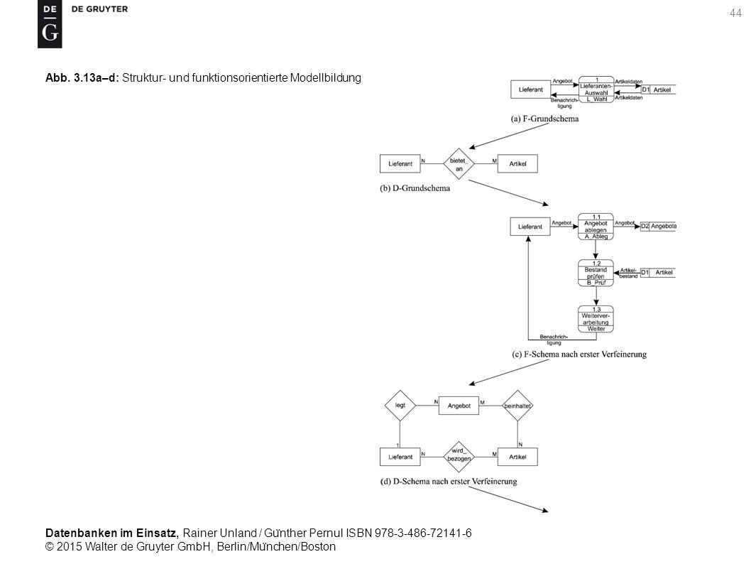 Datenbanken im Einsatz, Rainer Unland / Gu ̈ nther Pernul ISBN 978-3-486-72141-6 © 2015 Walter de Gruyter GmbH, Berlin/Mu ̈ nchen/Boston 44 Abb. 3.13a