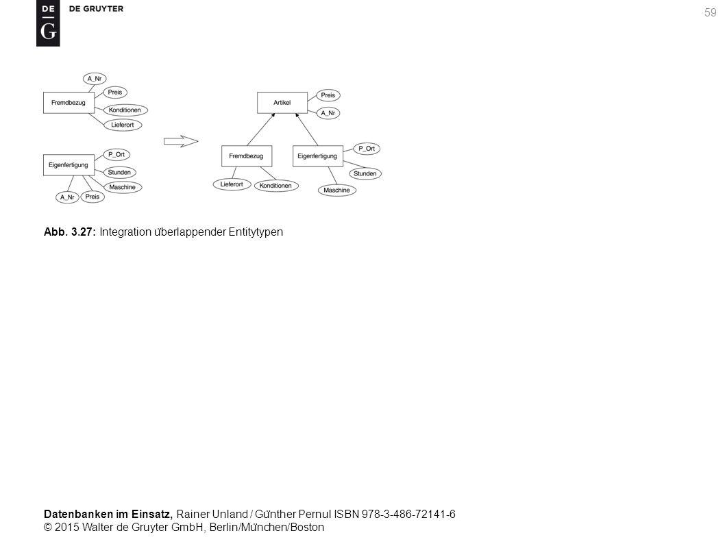 Datenbanken im Einsatz, Rainer Unland / Gu ̈ nther Pernul ISBN 978-3-486-72141-6 © 2015 Walter de Gruyter GmbH, Berlin/Mu ̈ nchen/Boston 59 Abb. 3.27: