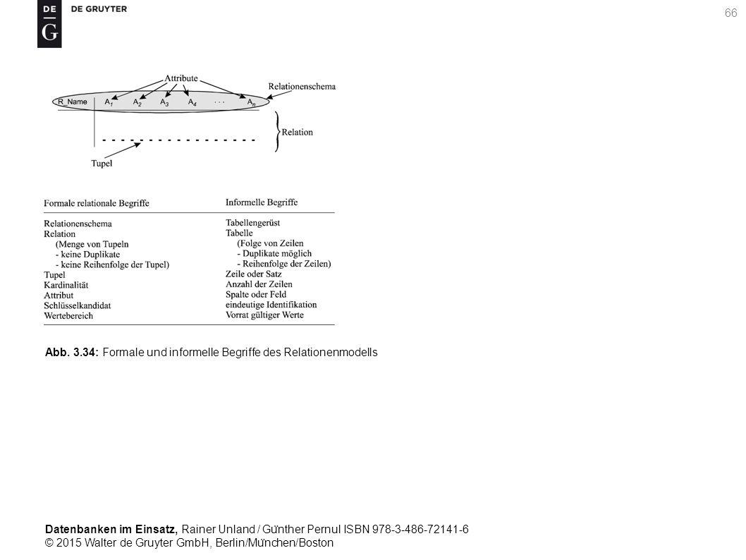 Datenbanken im Einsatz, Rainer Unland / Gu ̈ nther Pernul ISBN 978-3-486-72141-6 © 2015 Walter de Gruyter GmbH, Berlin/Mu ̈ nchen/Boston 66 Abb. 3.34: