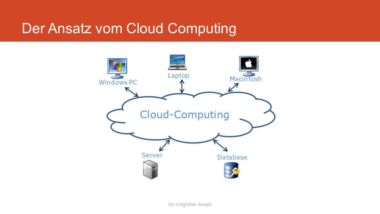 Der Ansatz vom Cloud Computing Ein möglicher Ansatz