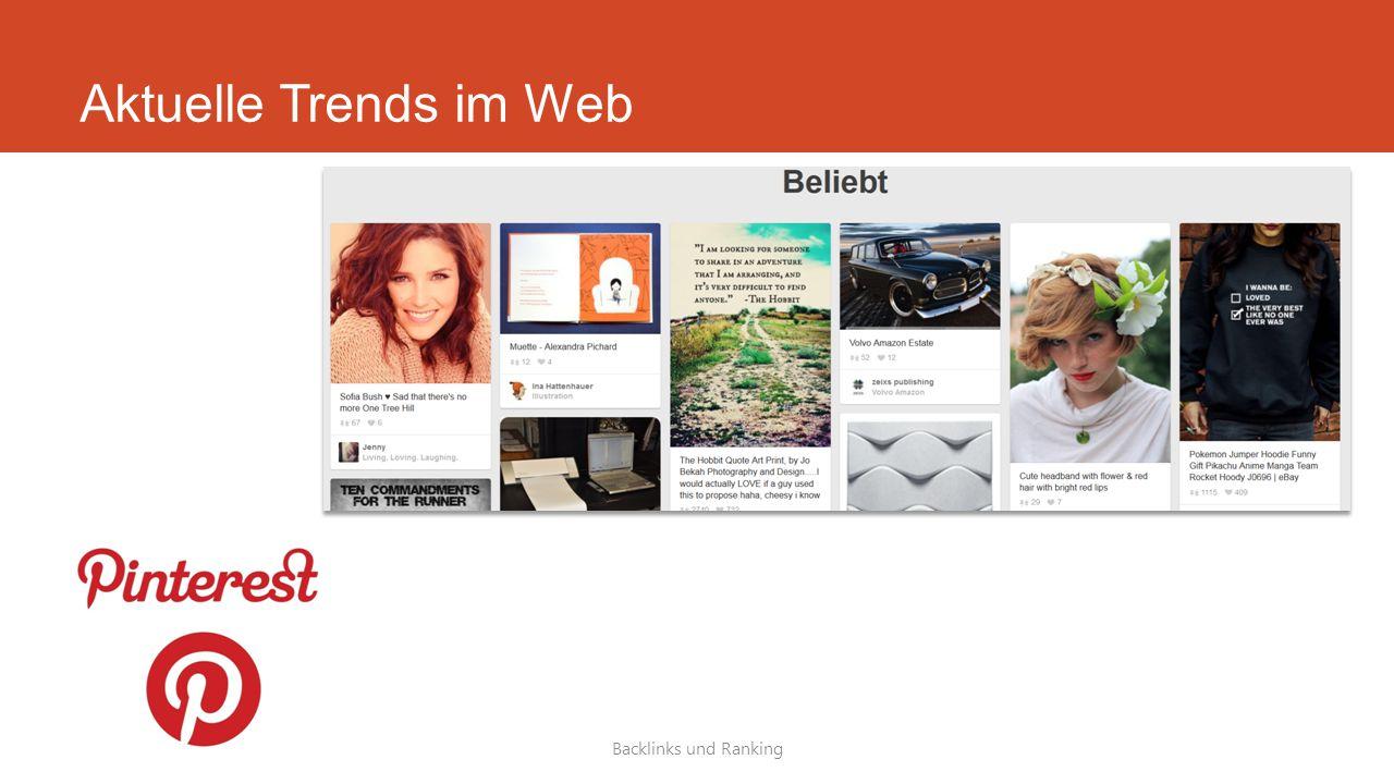 Aktuelle Trends im Web Backlinks und Ranking