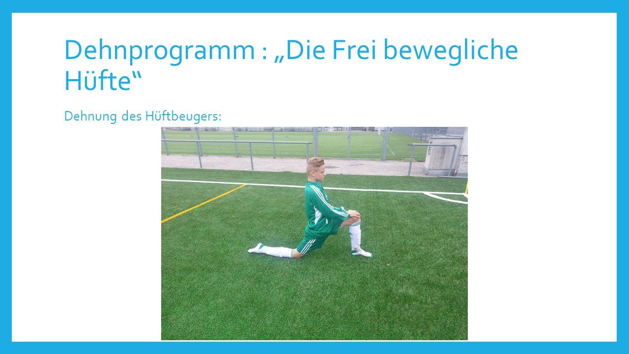 """Dehnprogramm : """"Die Frei bewegliche Hüfte"""" Dehnung des Hüftbeugers:"""