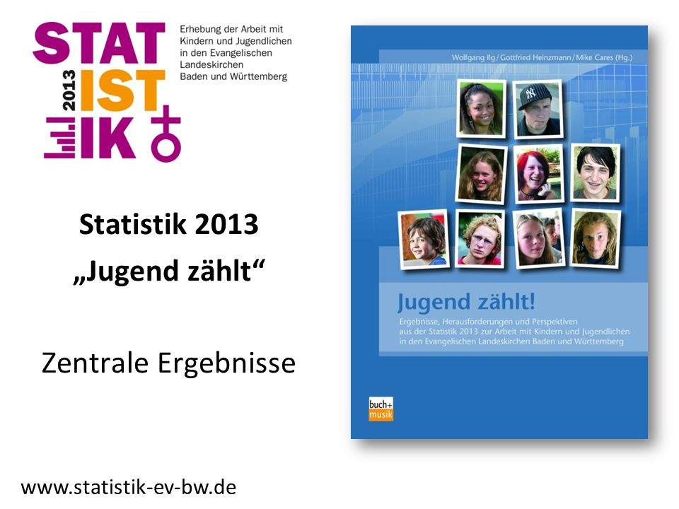"""Statistik 2013 """"Jugend zählt"""" Zentrale Ergebnisse www.statistik-ev-bw.de"""