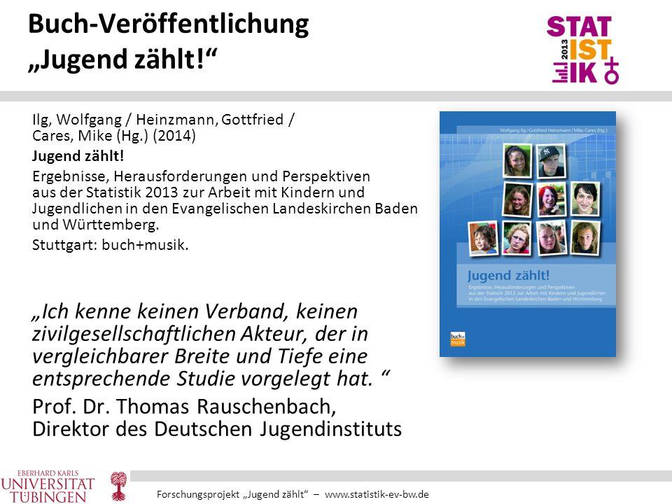 """Forschungsprojekt """"Jugend zählt"""" – www.statistik-ev-bw.de Buch-Veröffentlichung """"Jugend zählt!"""" Ilg, Wolfgang / Heinzmann, Gottfried / Cares, Mike (Hg"""