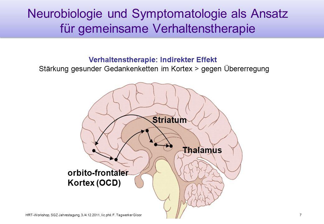 8 Pharmakologische Einflussnahme Medikation: Direkter Effekt Unterdrückung dysfunktionaler, schneller neuronaler Informationsflüsse