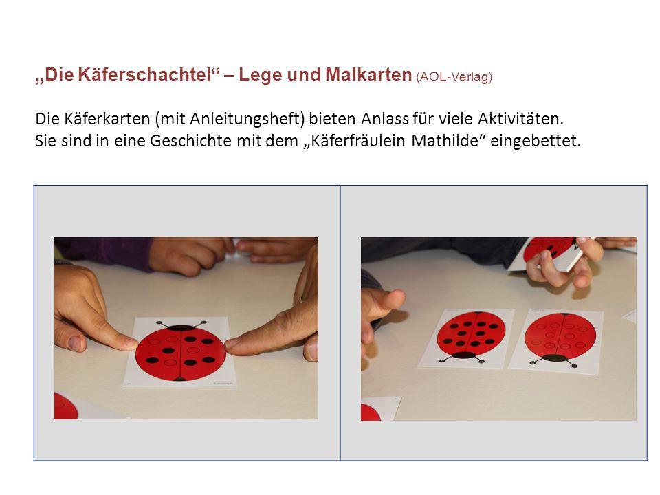 """""""Die Käferschachtel – Lege und Malkarten (AOL-Verlag) Die Käferkarten (mit Anleitungsheft) bieten Anlass für viele Aktivitäten."""