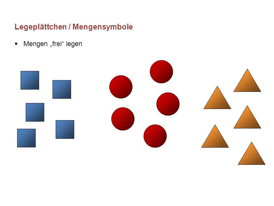 """Legeplättchen / Mengensymbole  Mengen """"frei"""" legen"""