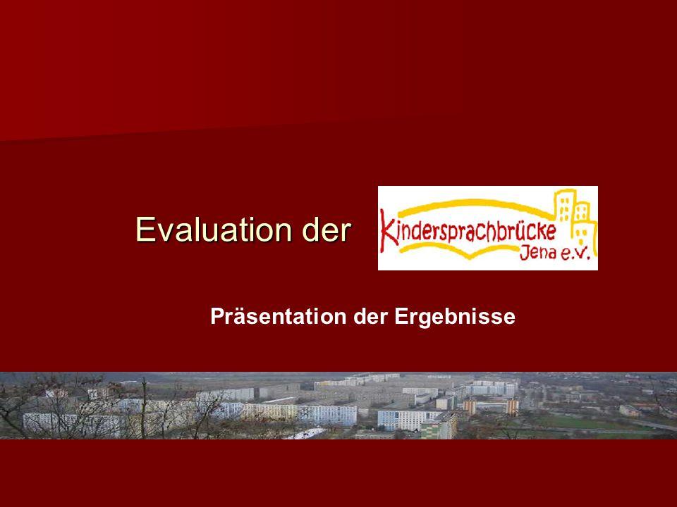 Evaluation der Präsentation der Ergebnisse
