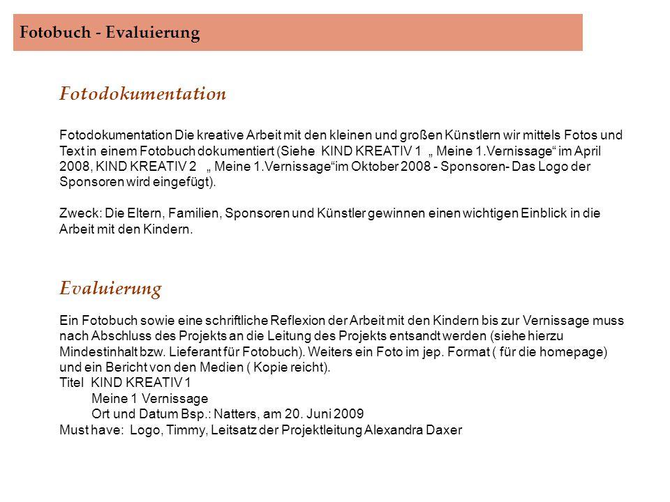 Fotobuch - Evaluierung.