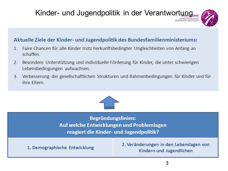 Kinder- und Jugendpolitik in der Verantwortung Aktuelle Ziele der Kinder- und Jugendpolitik des Bundesfamilienministeriums: 1.Faire Chancen für alle K
