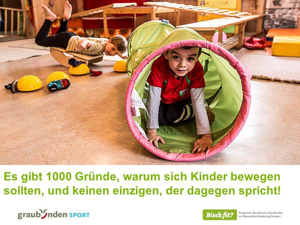 Es gibt 1000 Gründe, warum sich Kinder bewegen sollten, und keinen einzigen, der dagegen spricht!