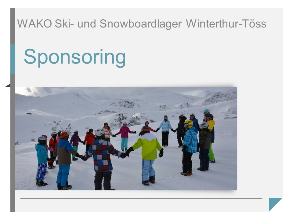 Sponsoring WAKO Ski- und Snowboardlager Winterthur-Töss
