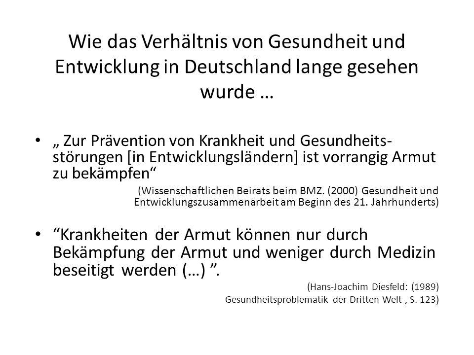 """Wie das Verhältnis von Gesundheit und Entwicklung in Deutschland lange gesehen wurde … """" Zur Prävention von Krankheit und Gesundheits- störungen [in E"""
