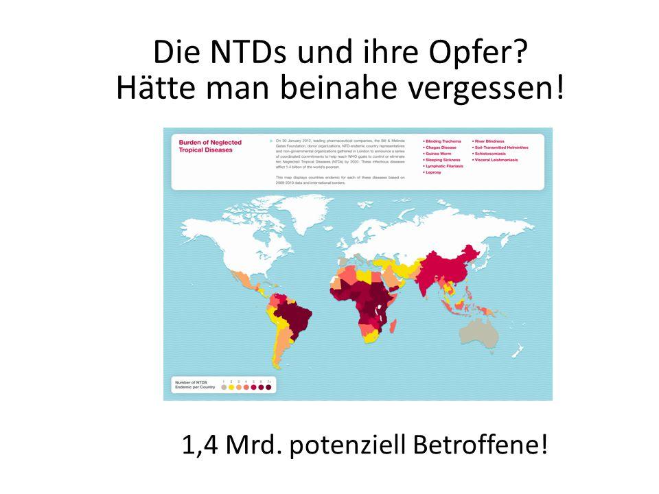 WHO NTD ROADMAP Die WHO hat seit 2012 ein schlüssiges Konzept zur NTD Bekämpfung Derzeit entwickeln 74 Länder Programme zu ihrer Bekämpfung nach WHO Muster