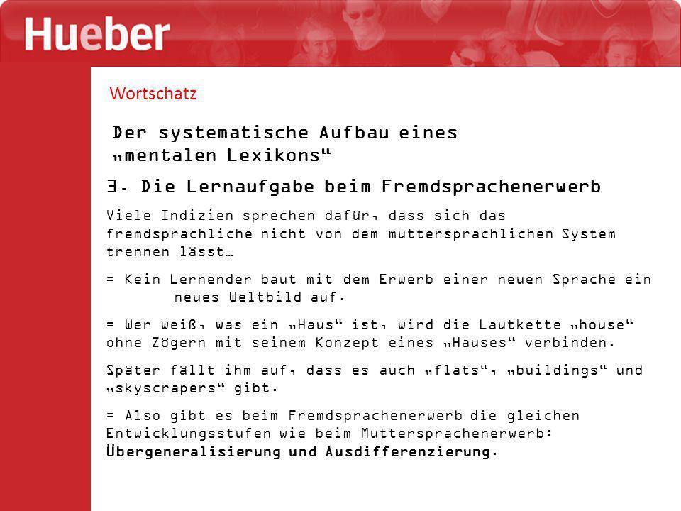 """Wortschatz Der systematische Aufbau eines """"mentalen Lexikons 3."""