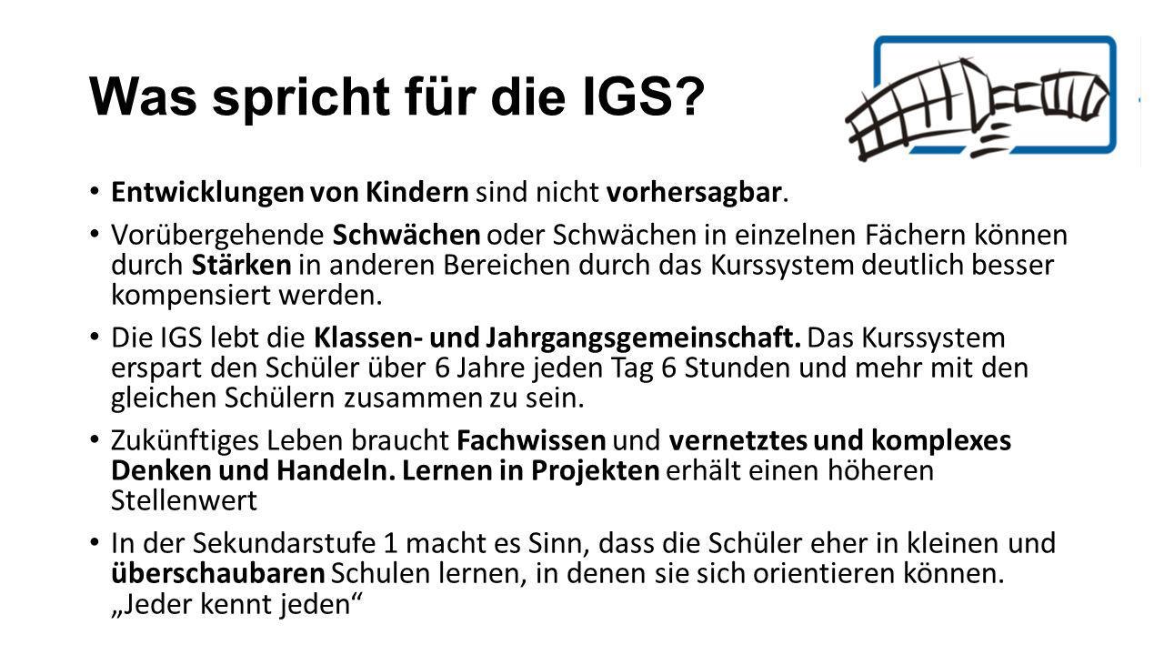 Was spricht für die IGS.