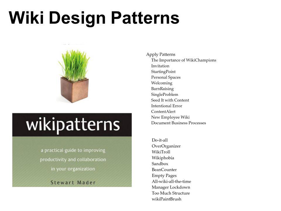 Wiki Design Patterns