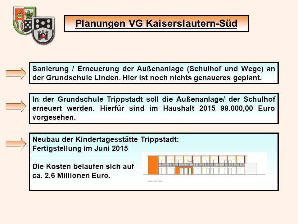Planungen VG Kaiserslautern-Süd Sanierung / Erneuerung der Außenanlage (Schulhof und Wege) an der Grundschule Linden.