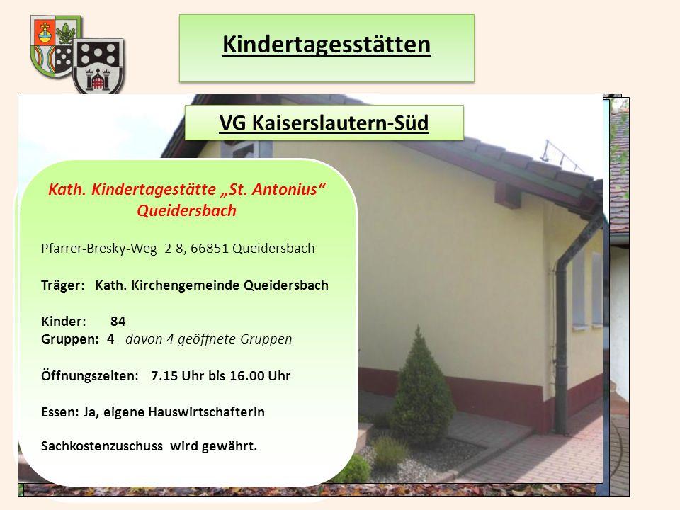 """Prot. Kindertagesstätte """"Arche Kunterbunt"""" Schopp Kirchweg 2, 67707 Schopp Träger:Prot. Pfarramt Schopp Kinderzahl: 42 Gruppen: 3 davon 1 Regelgruppe"""