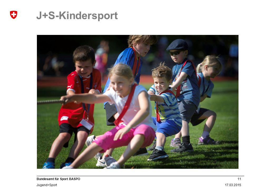 11 17.03.2015 Bundesamt für Sport BASPO Jugend+Sport J+S-Kindersport