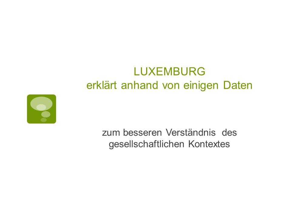 LUXEMBURG erklärt anhand von einigen Daten zum besseren Verständnis des gesellschaftlichen Kontextes