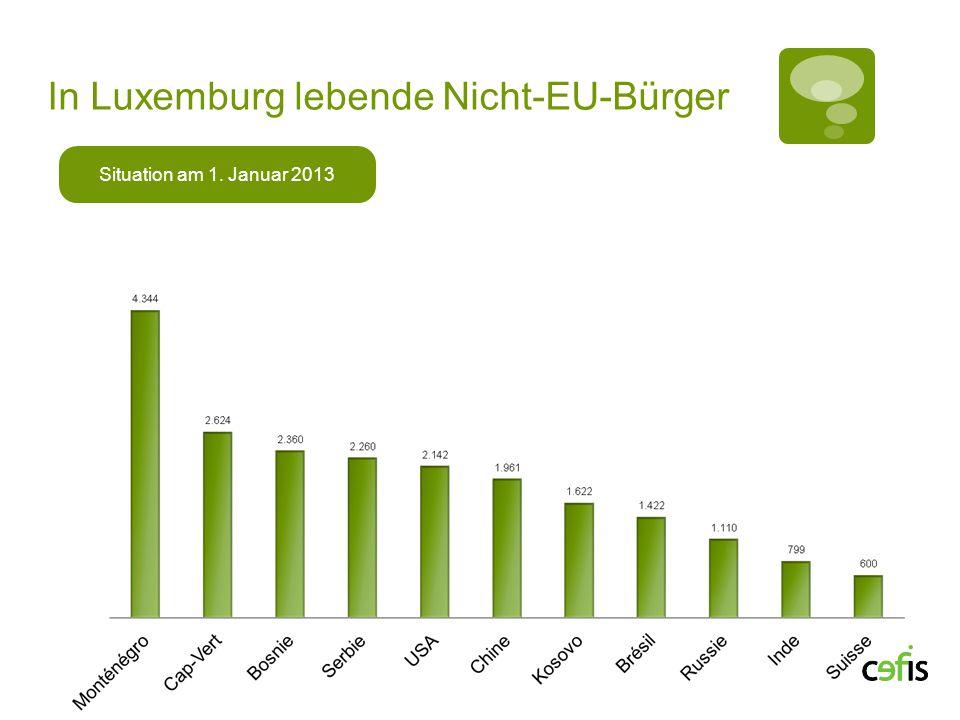 In Luxemburg lebende Nicht-EU-Bürger Situation am 1. Januar 2013