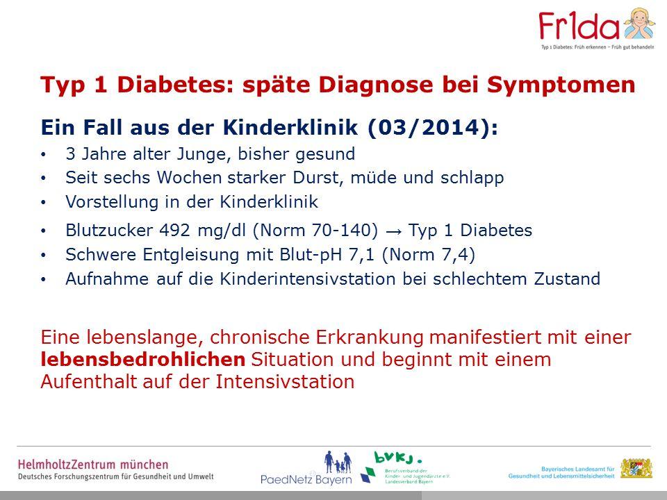 Folgen einer Ketoazidose Die gefürchtete Komplikation ist das Hirnödem: tritt in 0,5–1 % der Fälle klinisch auf 21–24 % der Fälle führt zum Tod (1 Todesfall in 400 Ketoazidose-Fällen) Die Ketoazidose ist die führende Todesursache bei Kindern mit Typ 1 Diabetes Schober E, Austrian Journal of Clinical Endocrinology and Metabolism 2011 ; Edge JA, Arch Dis Child 2001; Laing SP, Diabet Med 1999; Kent L, Lancet 1994; Trotz verstärkter Aufklärung kein Rückgang der Ketoazidose-Prävalenz Neu A, Diabetes Care 2009 AKUT