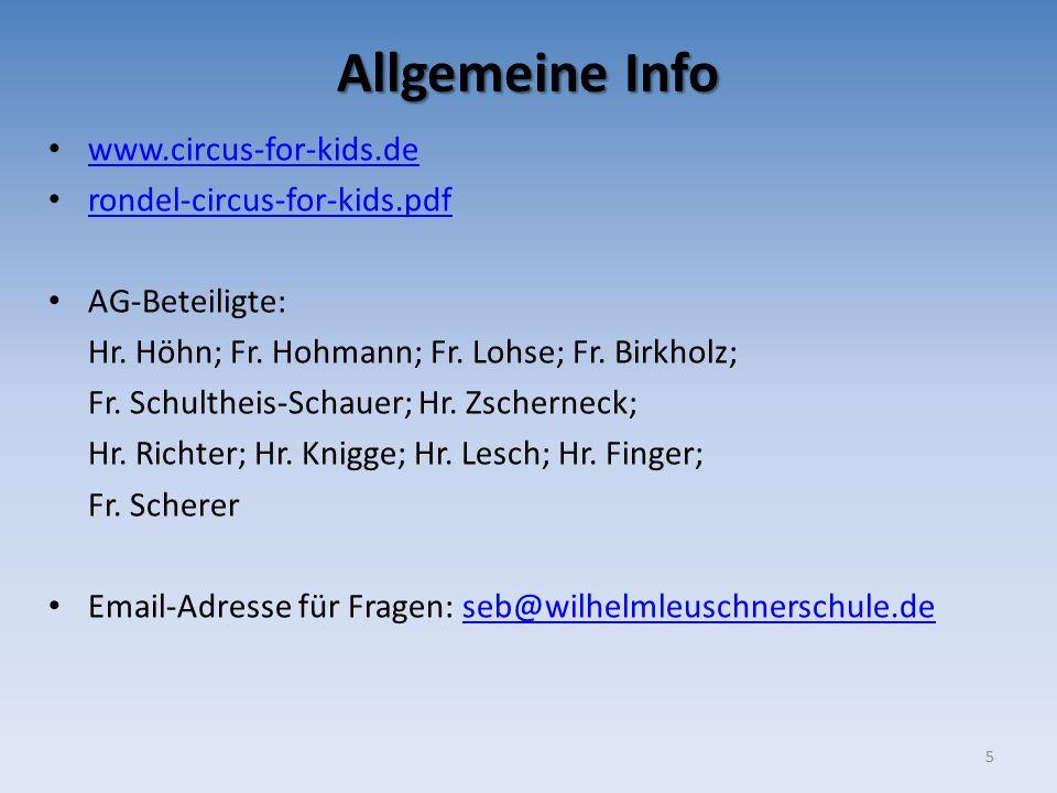 Allgemeine Info www.circus-for-kids.de rondel-circus-for-kids.pdf AG-Beteiligte: Hr.