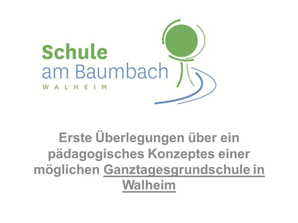 Erste Überlegungen über ein pädagogisches Konzeptes einer möglichen Ganztagesgrundschule in Walheim
