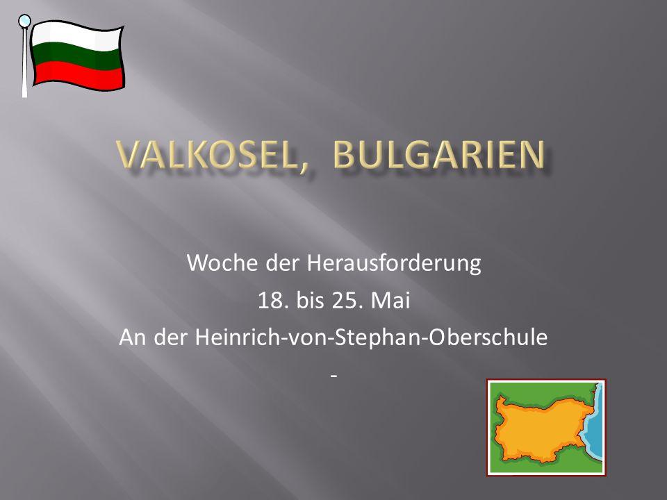Woche der Herausforderung 18. bis 25. Mai An der Heinrich-von-Stephan-Oberschule -