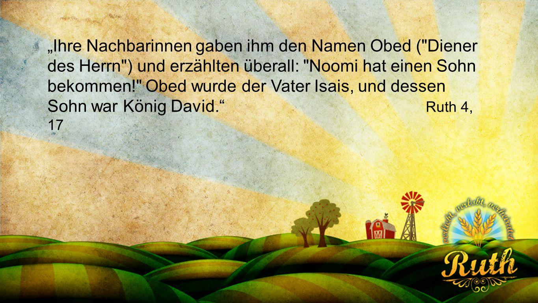 """Seriendesign deutsch """"Ihre Nachbarinnen gaben ihm den Namen Obed ("""
