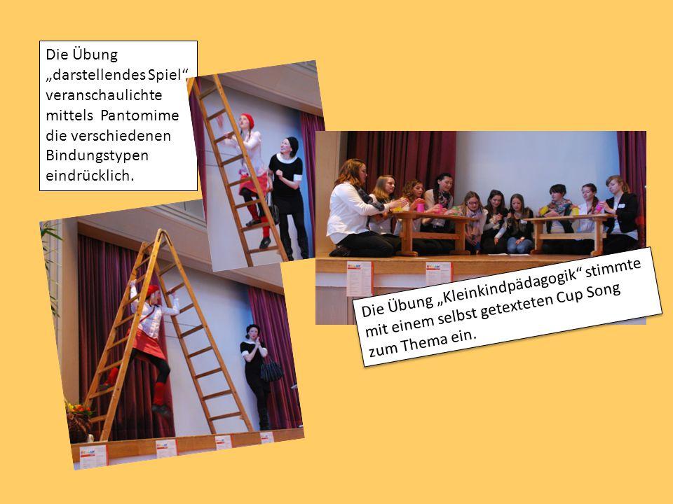 """Die Übung """"darstellendes Spiel"""" veranschaulichte mittels Pantomime die verschiedenen Bindungstypen eindrücklich. Die Übung """"Kleinkindpädagogik"""" stimmt"""
